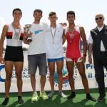 Lorenzo Gaione (primo a sinistra), Medaglia d'Argento ai Campionati Italiani Ragazzi 2015